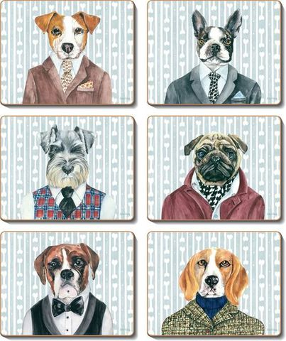 Coasters Dogs Dinner 12x10 cm
