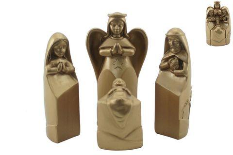 Nativity Scene Set of 4 Gold 7x11cm