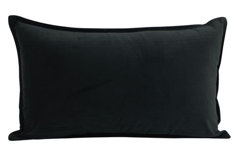 Velvet Cushion Black 30x50cm