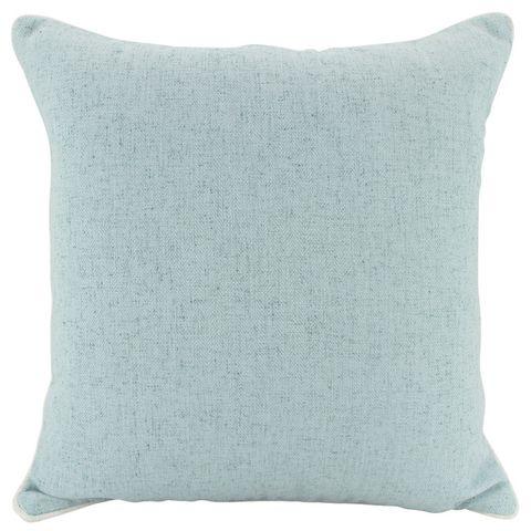 Piped Linen Cushion Blue 50x50cm