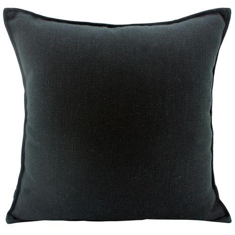 Linen Black Cushion 45x45cm