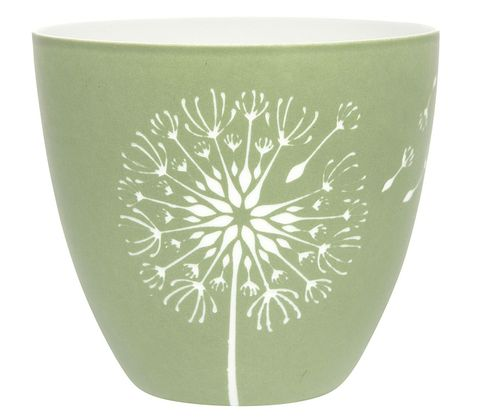 Porcelain Olive Cup Dandelion