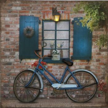 Metal Art Canvas with LED 50x50 cm Simpler Times
