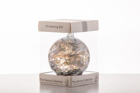 Christening Ball10Cm Pastel Silver