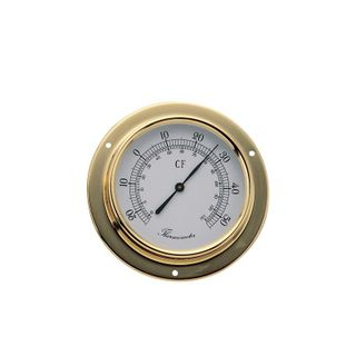 Barigo 85mm Thermometer Brass