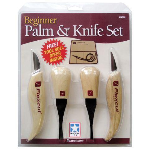 Flexcut Palm & Knife Set