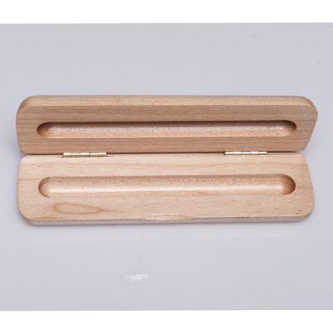 PEN BOX - SINGLE WOODEN MAPLE