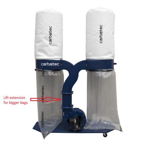 Carbatec Professional Twin Bag Dust Collector