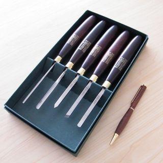 5 pce Miniature Woodturning Set HCT-168