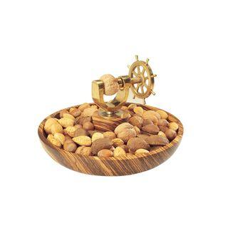 Ship's Wheel Nutcracker - Brass