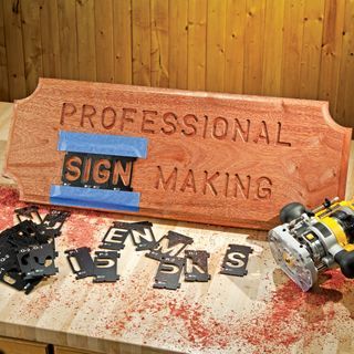 Rockler Interlock Signmaker's Templates - State Park Font - 57mm
