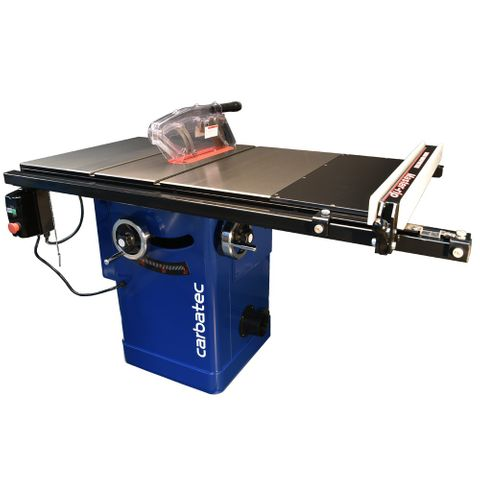 """Carbatec Professional 250mm Cabinet Saw with 30"""" T-Glide Fence Kit"""