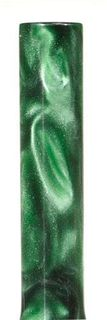 Acrylic Pen Blank Green / Pearl Swirl