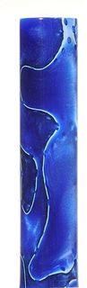 Acrylic Pen Blank Royal Blue / Pearl Marble