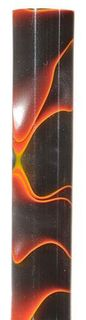 Acrylic Pen Blank Black / Orange / Pearl Marble