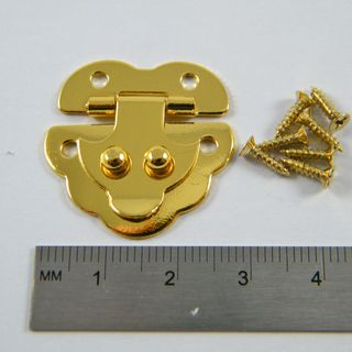 Brass Plated Clip Down Box Catch