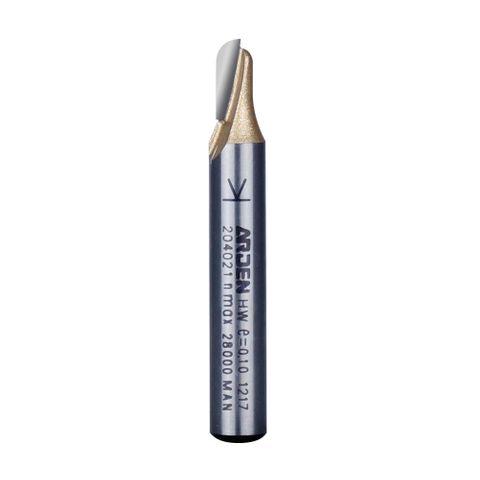 Arden Round Nose Grooving Bit 1/4in. Shank 4.76 mm Cut Ø 7.93 mm Cut L.