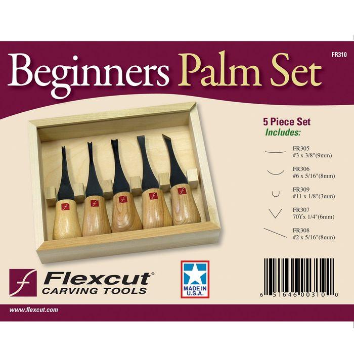 Flexcut Regular Palm Set 5 pce wood box