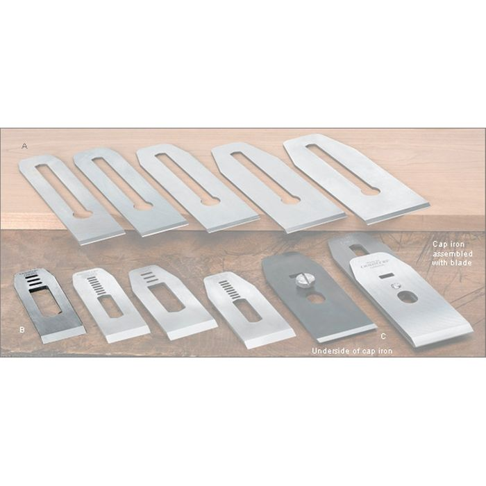 """Veritas® Blades made for Stanley/Record Block Planes - 35mm with 5/8"""" slot"""