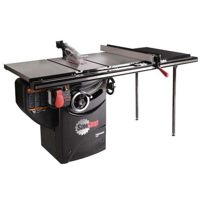 SawStop Professional Cabinet Saw with 36 inch T-Glide Rail