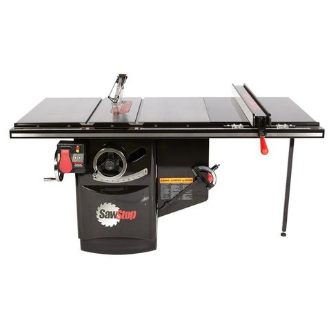 SawStop Industrial 3HP Cabinet Saw and 36 in T-Glide Rail
