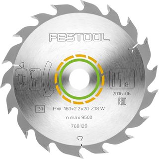 Festool Saw Blade 160x2.2x20 W18 for TS 55 TSC 55