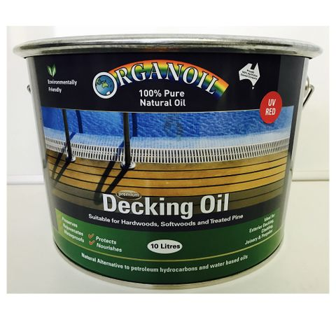 Organoil Decking and Exterior Oil Red 10L