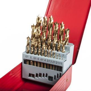 25pce Metric Brad Point Bit Set 1-13mm