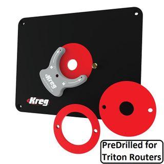 Kreg Prec Router Plate Triton