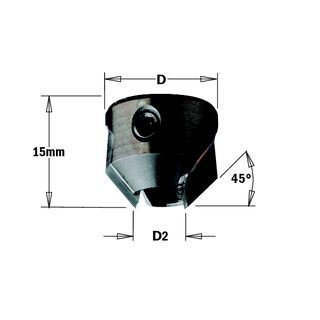Countersink TCT RH for 9mm Drill