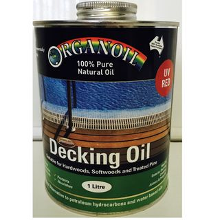 Organoil Decking and Exterior Oil Red 1L