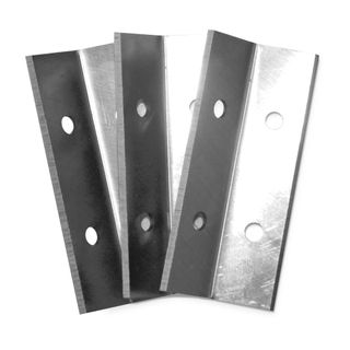 Viper Scraper Angled Steel Replacement Blades - Pack of 3