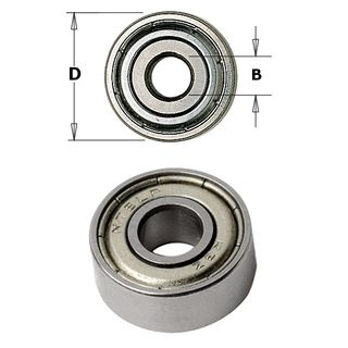 Bearing 16.00 mm OD x 8.00mm ID