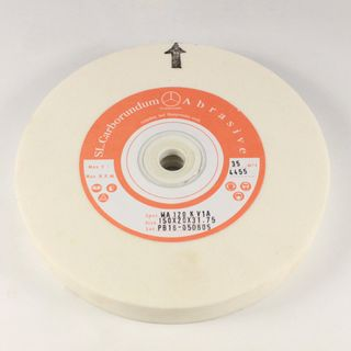WHITE WHEEL 150MM - 120 GRIT 19mm Wide