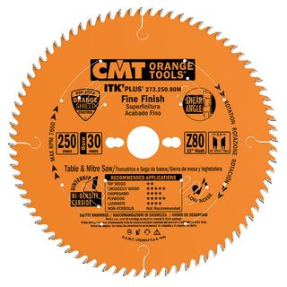 CMT Ultra ITK Fine Finish Blade - 250mm x 80 Teeth