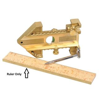 12in Brass edged Wooden Ruler