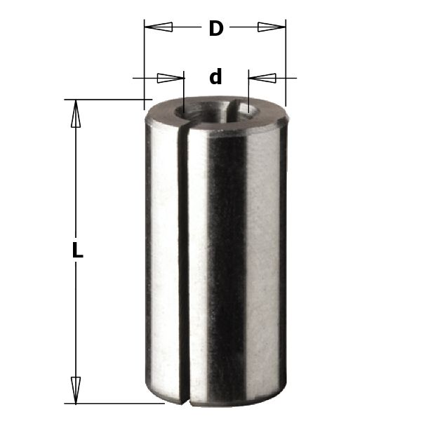 Collet Reducer 1/2in OD 1/4in ID