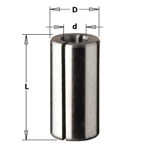 Collet Reducer 1/2in OD 8mm ID