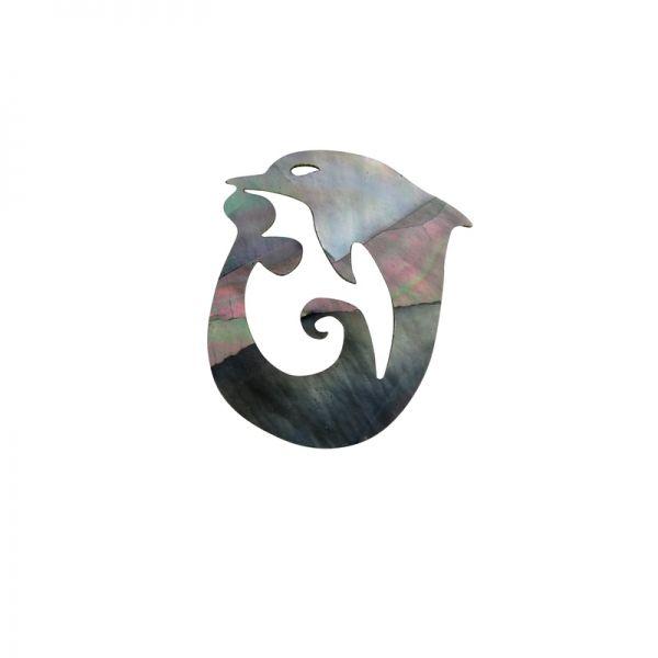 Shape-Paua- Dolphin Wave - Black Pearl