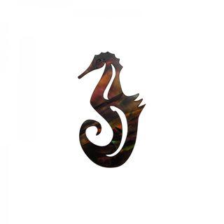 Paua Seahorse Golden Ochre