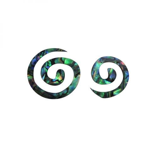 Paua Double Spiral (2 pces)