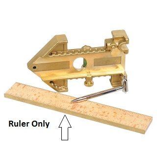 Ruler Brass edged 150mm