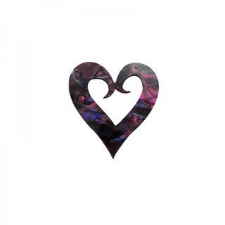 Paua Koru Heart Plum Paua