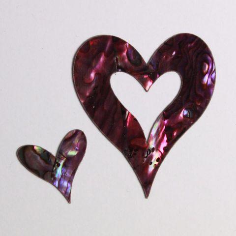Paua Love Heart Plum Paua