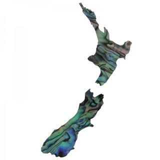 Paua New Zealand Map (80mm)