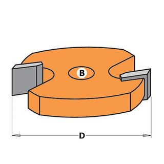 Two Flute Slot Cutter 6mm Thick (Spare Part)