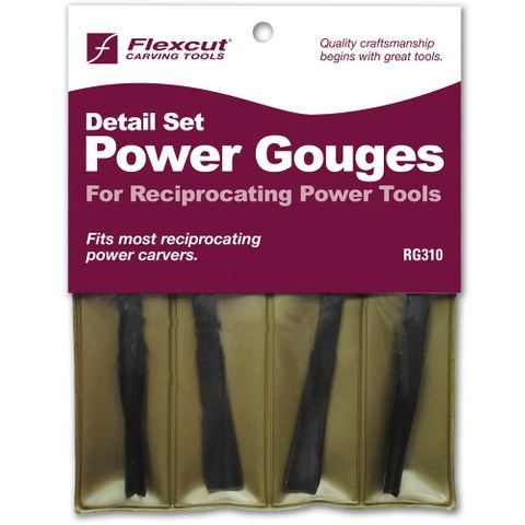 Reciprocating Detailing Gouges 4pce  **