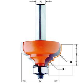 CMT Classical Ogee Bit W/Brg1/4-3/16in1/4inS