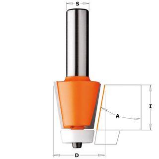 Bevel Cutter 15* 1-1/4in D x 22.2mm L