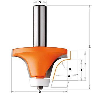 Bowl Cutter 15* 50.8mm D  Max 1in Board